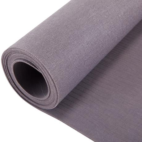 Foldable Rubber Yoga Mat 1 5mm Beige Domyos By Decathlon