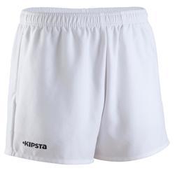 Pantalón corto de rugby hombre R100 blanco