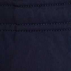 兒童款足球訓練長褲T100-藍色