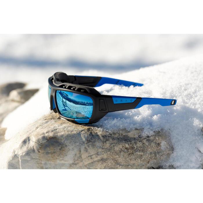 Lunettes de randonnée adulte MH 910 noires/bleues verres interchangeables cat4+2 - 883387
