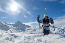 Skibril Skiing 900 volwassenen, zwart en blauw, verwisselbare lenzen cat. 4+2 - 883391