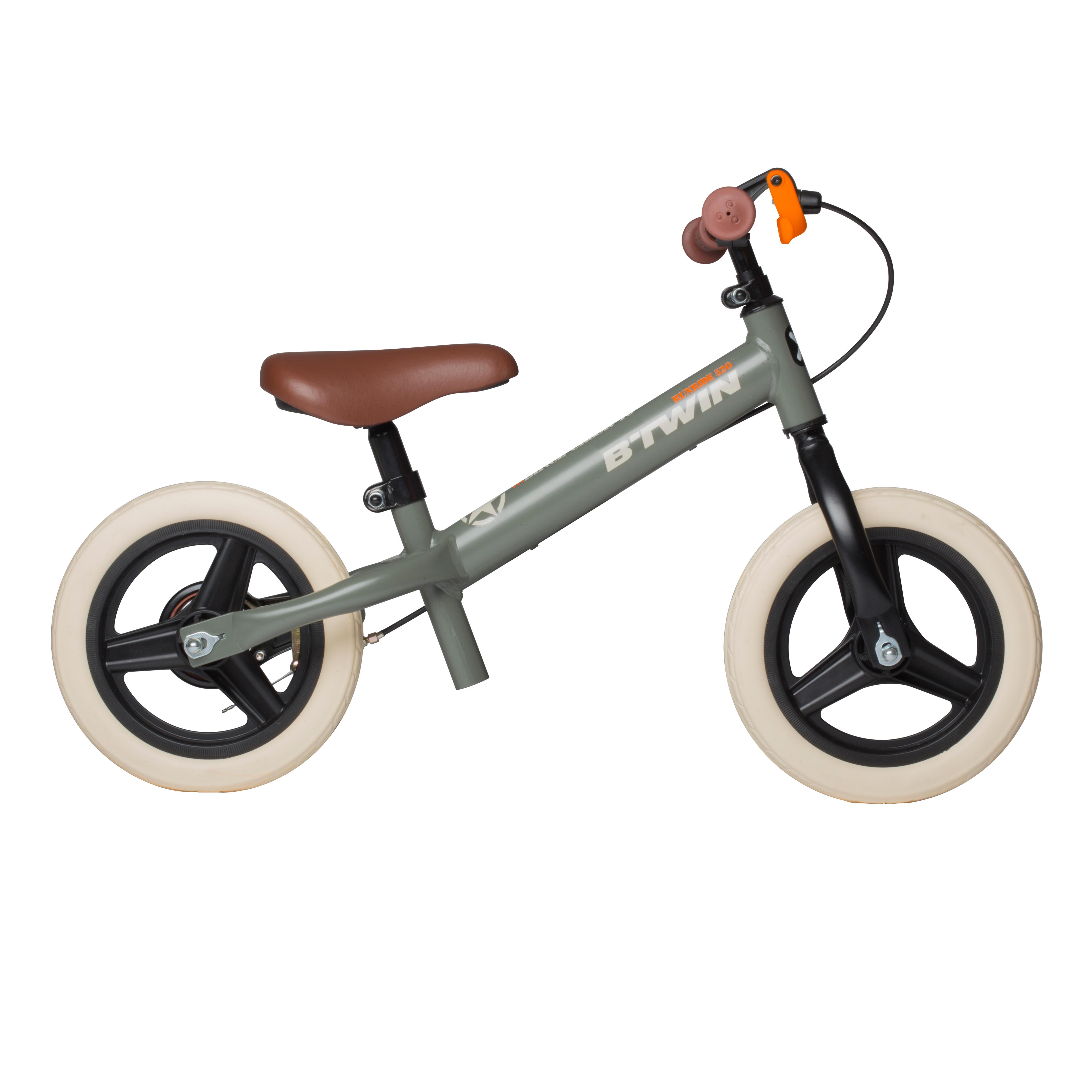 B'twin Loopfietsje Run Ride voor kinderen, 10 inch, Cruiser kaki - unieke grootte