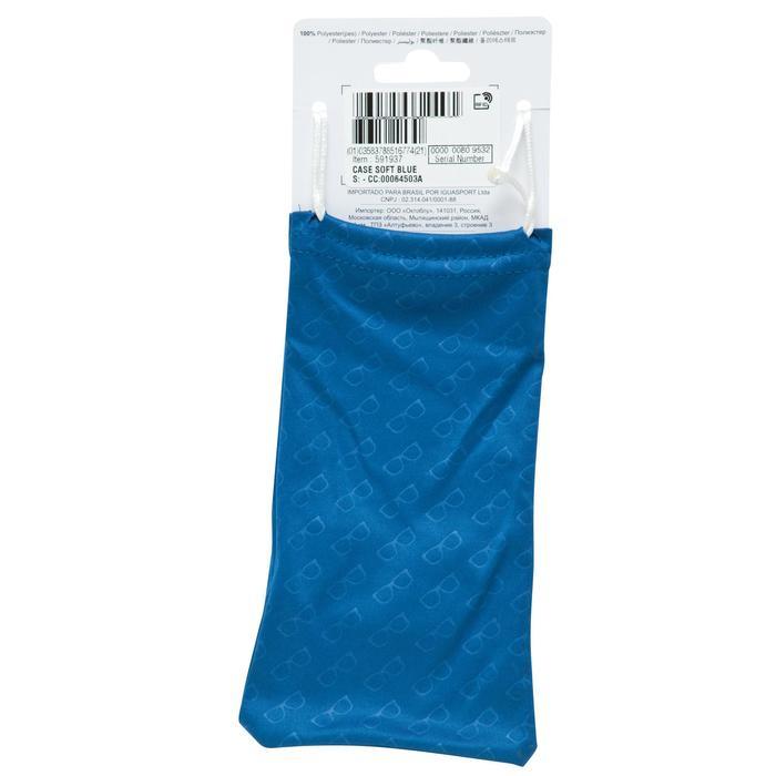 Etui tissu nettoyant microfibre pour lunettes CASE 120 bleu