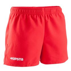 Short rugby Full H 100 enfant rouge