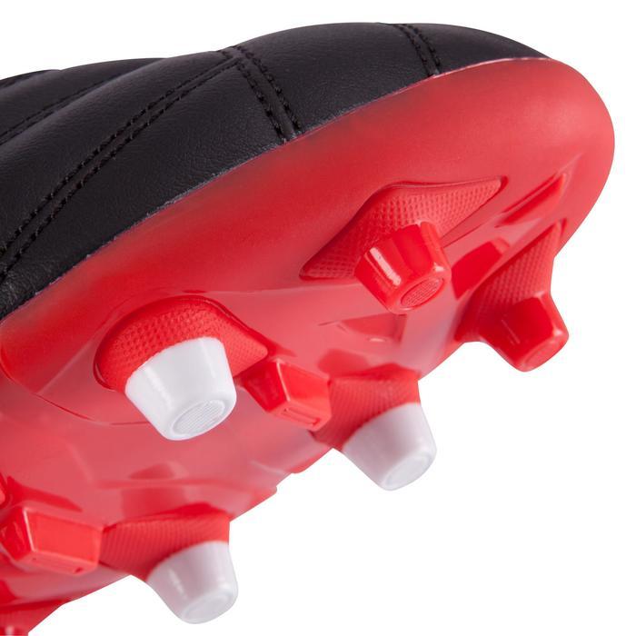 Botas de rugby adulto terrenos secos Density 300 FG negro rojo blanco