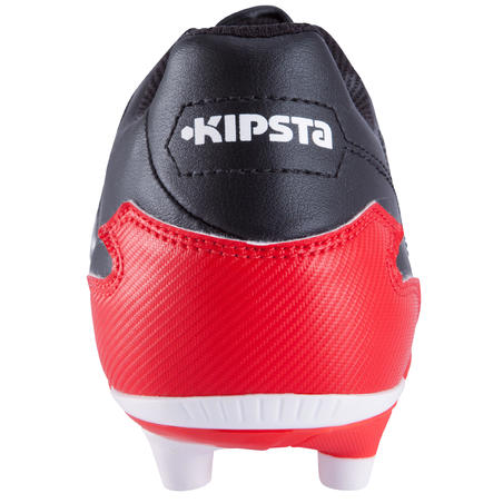 Adult Firm Ground Rugby Boots Density 300 FG - Black/Red/White