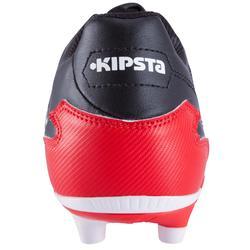 Botas de Rugby Kipsta Density 300 FG adulto negro y rojo