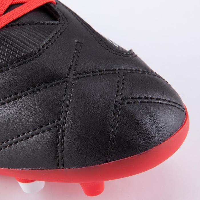 Rugbyschoenen volwassenen droog terrein Density 300 FG zwart/rood/wit