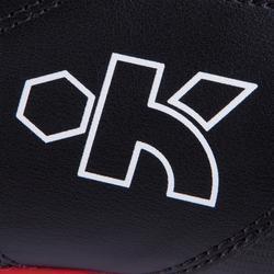 Rugbyschoenen voor droog terrein Density 300 FG zwart/rood/wit
