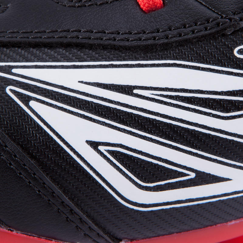 Density 300 FG Adult Firm Ground Rugby Boots - Black Red White