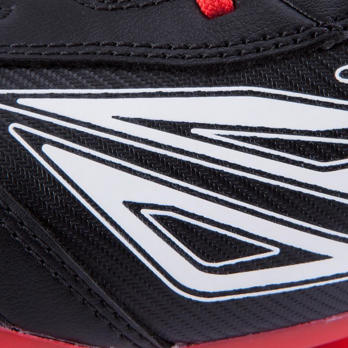 Chaussure rugby adulte terrains secs Density 300 FG noir rouge blanc