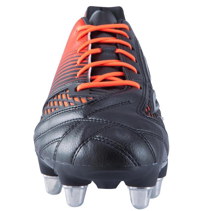 chaussures de rugby terrains gras 8 crampons Density R700 SG noir rouge