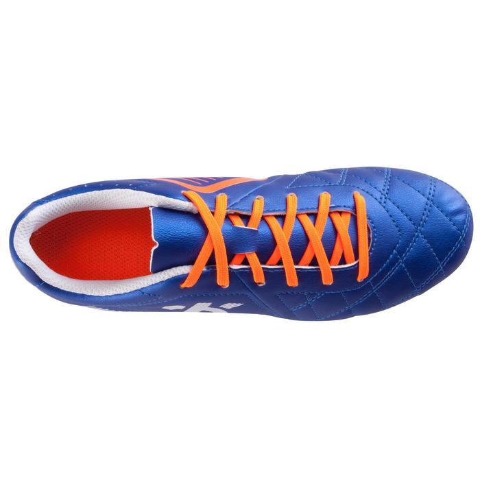 Voetbalschoenen voor kinderen Agility 500 FG voor droge ondergrond blauw/oranje