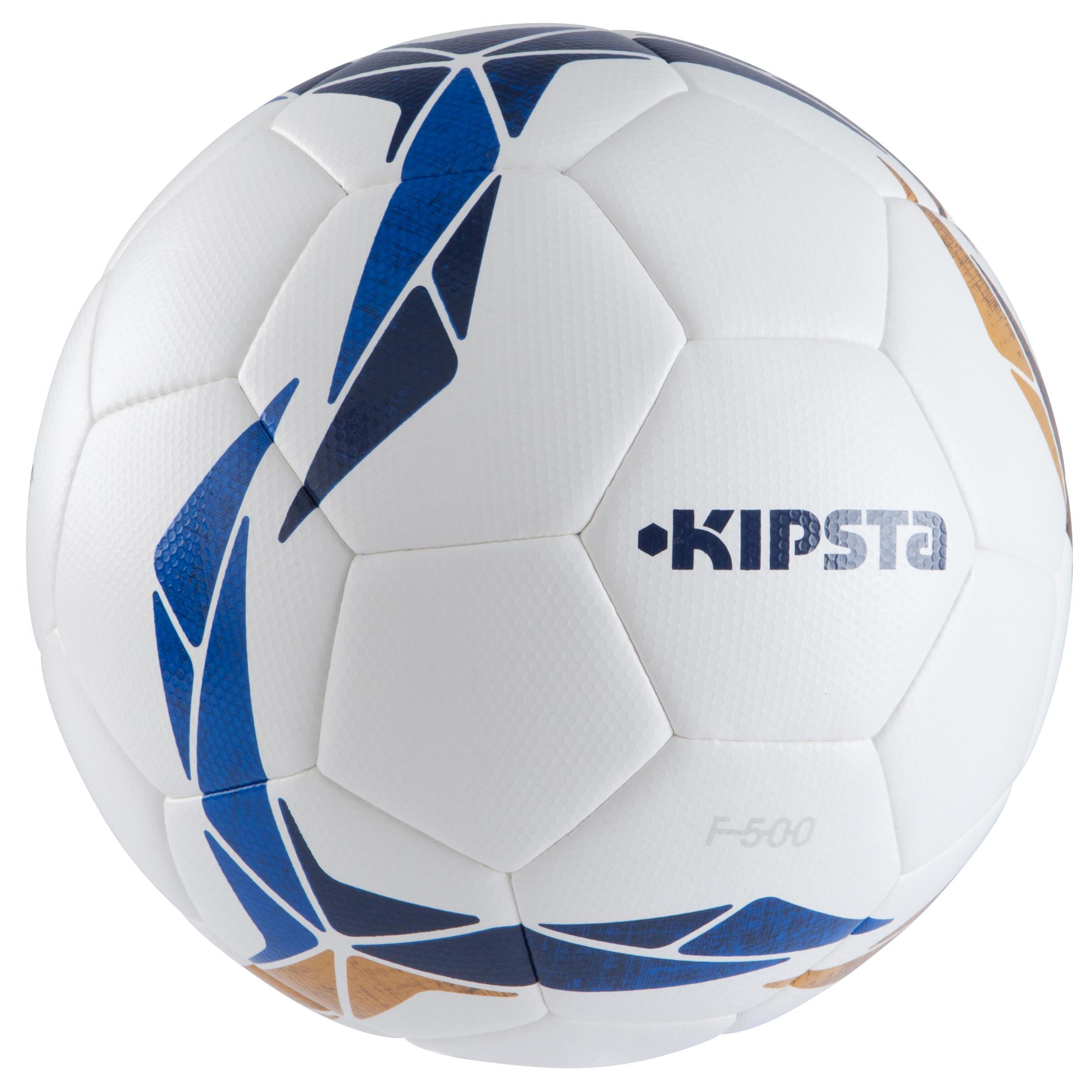 Balón de futbol F500 Híbrido talla 5 blanco