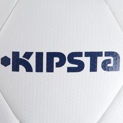 Balón de fútbol F500 híbrido talla 5 blanco azul ocre