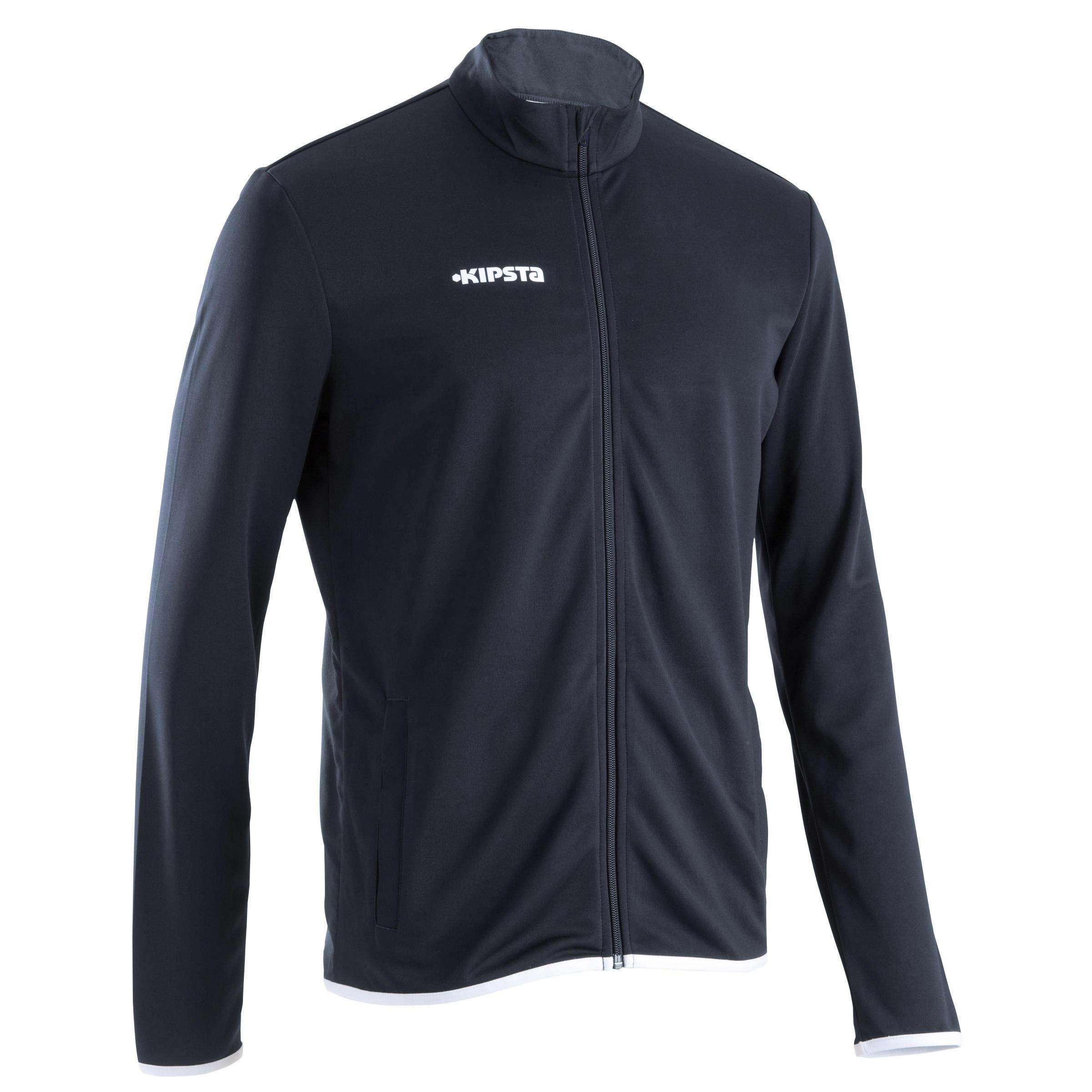 T100 Adult Soccer Jacket - Black/Blue