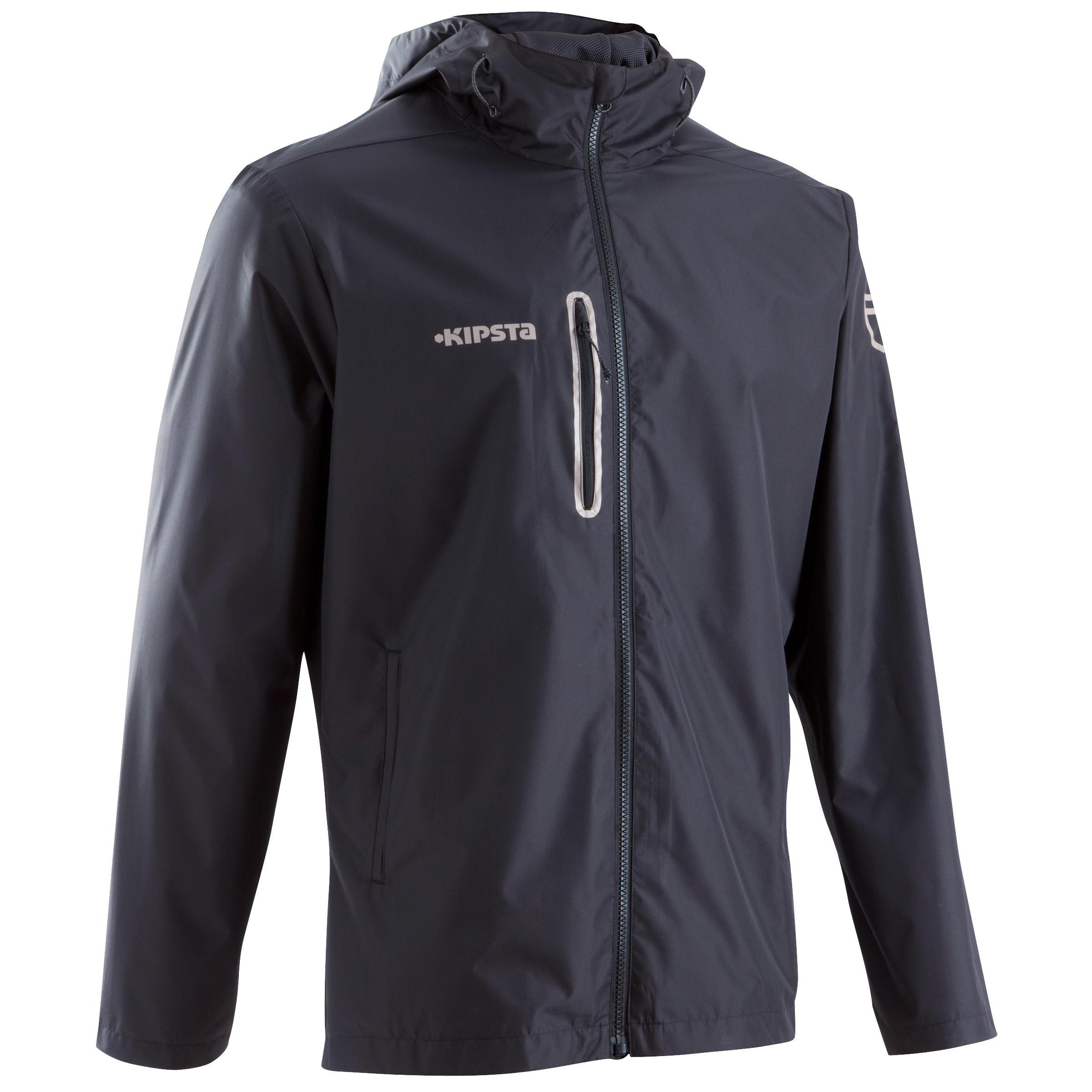 Veste de pluie imperméable de soccer adulte T500 noire
