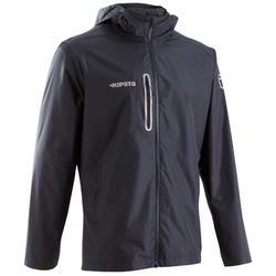 成人防水足球運動外套 T500 - 黑色