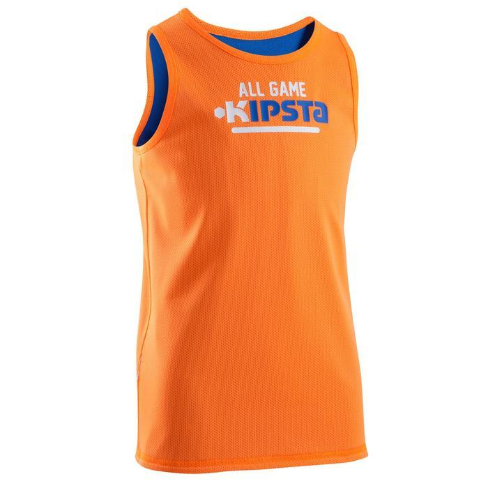 Maillot basketball enfant Réversible bleu orange