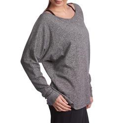 Dans T-shirt met lange mouwen voor dames gemêleerd grijs - 885750
