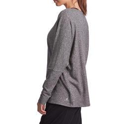 Dans T-shirt met lange mouwen voor dames gemêleerd grijs - 885751