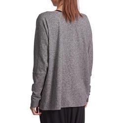 Dans T-shirt met lange mouwen voor dames gemêleerd grijs - 885752