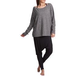 Dans T-shirt met lange mouwen voor dames gemêleerd grijs - 885756