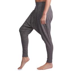 Dames harembroek voor dames grijs slub-effect - 885767