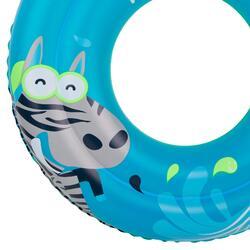 Blauwe zwemband 51 cm met zebraprint en twee luchtkamers kinderen 11-30 kg - 886575