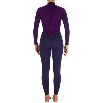 Combinaison SURF 100 Néoprène 2/2 mm Femme Violet - 886998