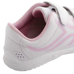 CHAUSSURES ENFANT TENNIS TS100 GRIP BLANC ROSE ARTENGO
