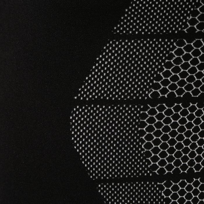 Ademend ondershirt met lange mouwen Keepdry 500 volwassenen zwart