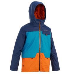 Hike 500 男童保暖防水登山3合1夾克 - 藍
