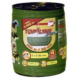 Schriklint voor paardenomheining Top Line groen - 20 mm breed x 200 m