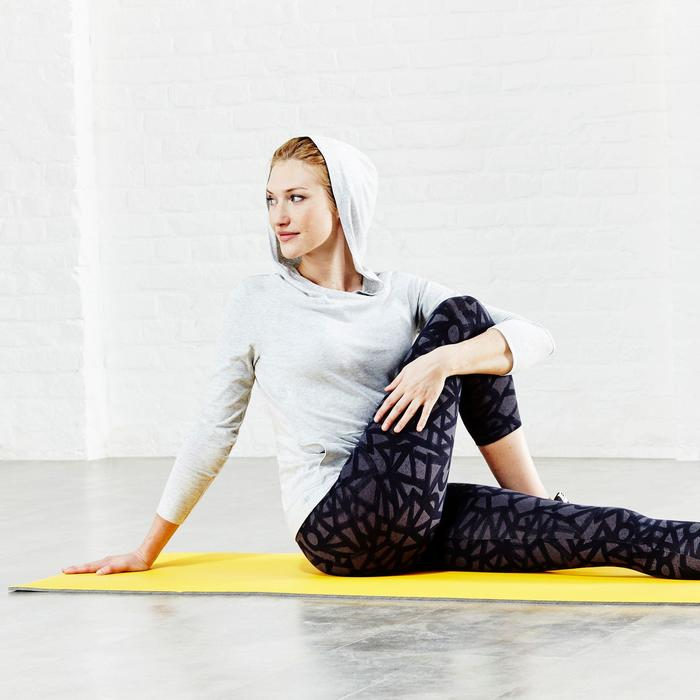 Gymnastikmatte 500 abriebfest faltbar Pilates Toning Größe M 7mm gelb