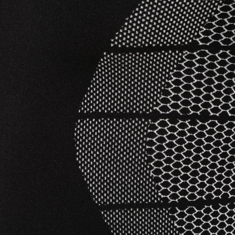 Camiseta térmica transpirable manga larga niños Keepdry 500 negro