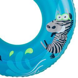 Blauwe zwemband 51 cm met zebraprint en twee luchtkamers kinderen 11-30 kg - 890246