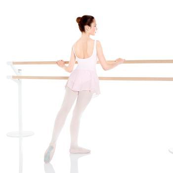 Maillot Ballet Domyos Delia Niña Con Faldita Integrada Rosa.