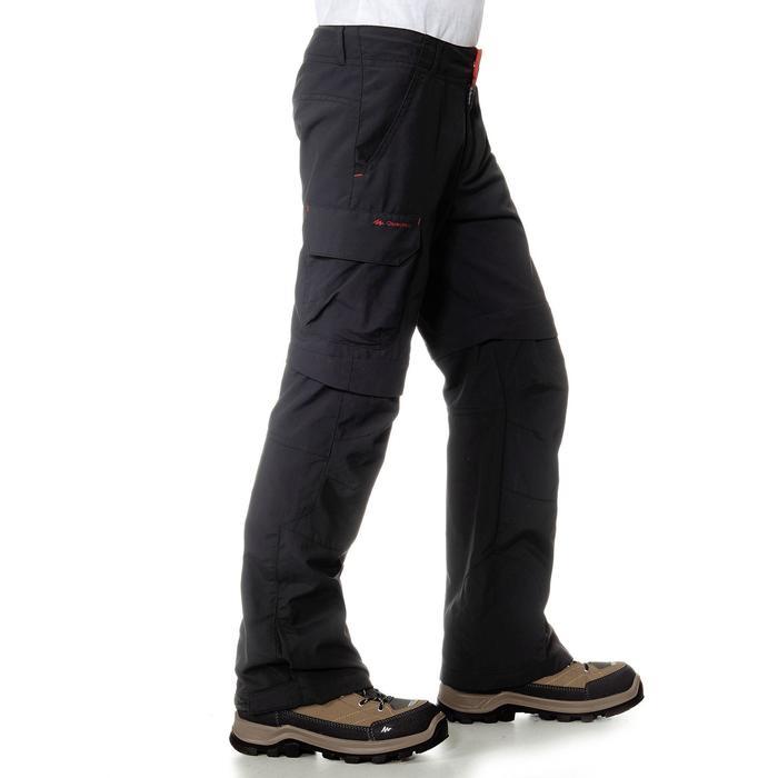 Pantalón desmontable de Montaña y Trekking Niños 7-15 años MH550 Negro