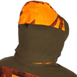 ChaquetaCaza Solognac Sibir 900 Calida Impermebale Silenciosa Camuflaje Naranja