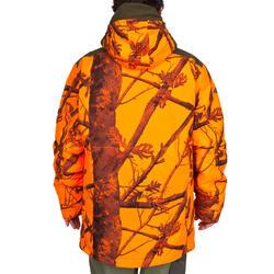 Regenjacke 500 3-in-1 warm camouflage neon