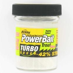 Wit kunstaas met glitters voor forel 50 g