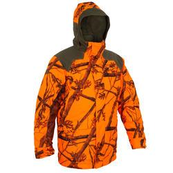 Jagd-Jacke Sibir 900 geräuscharm camouflage orange