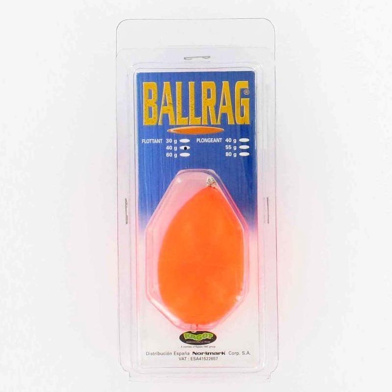 Ballrag fluo orange 40gr pêche en mer