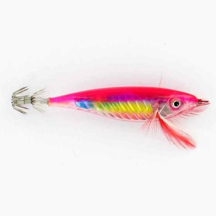 Inktvisplug Crystal 12 cm roze vissen op (pijl)inktvis