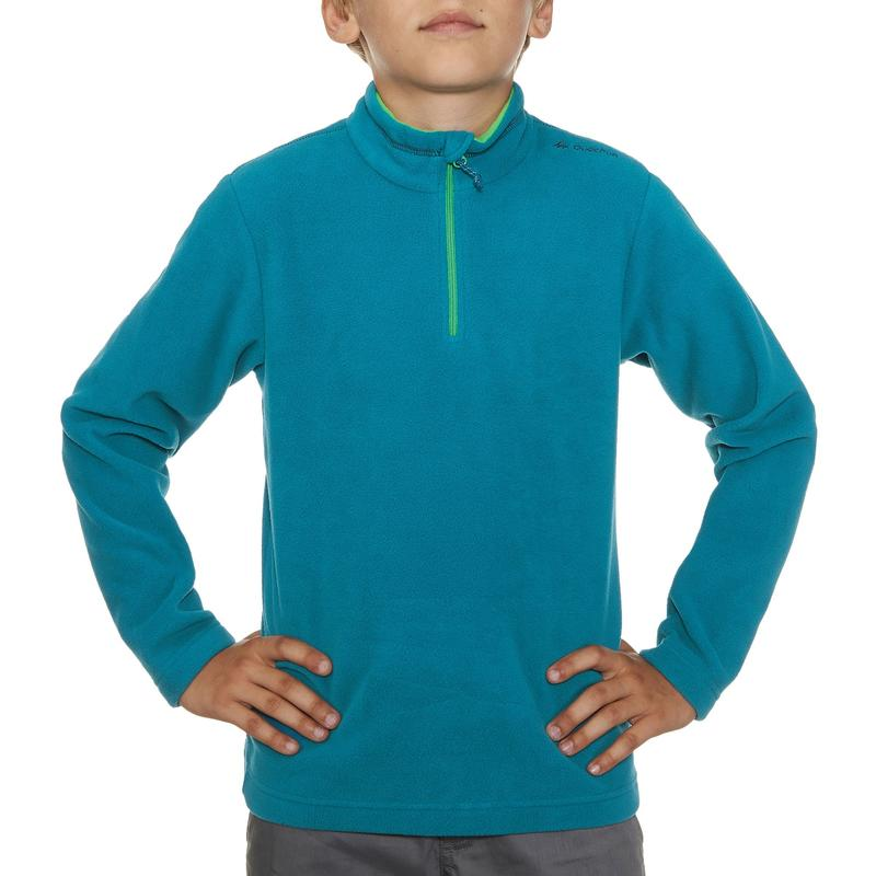 Polaire de randonnée HIKE 100 Garçon Bleu