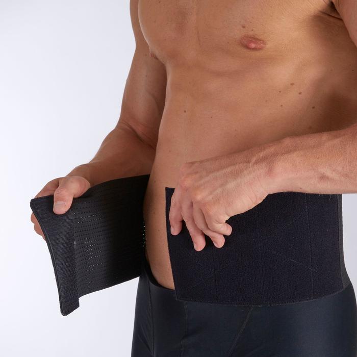 Rugbandage voor heren/dames Soft 100 zwart