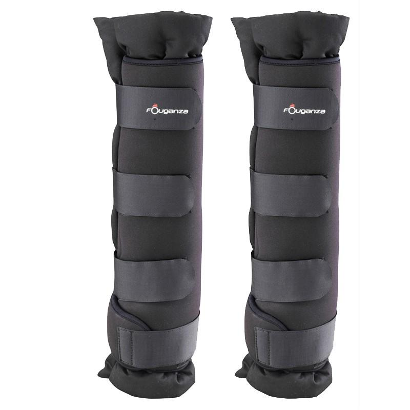 Horse Riding Stable Boots With Integrated Cotton Pads For Horse Pair - Black