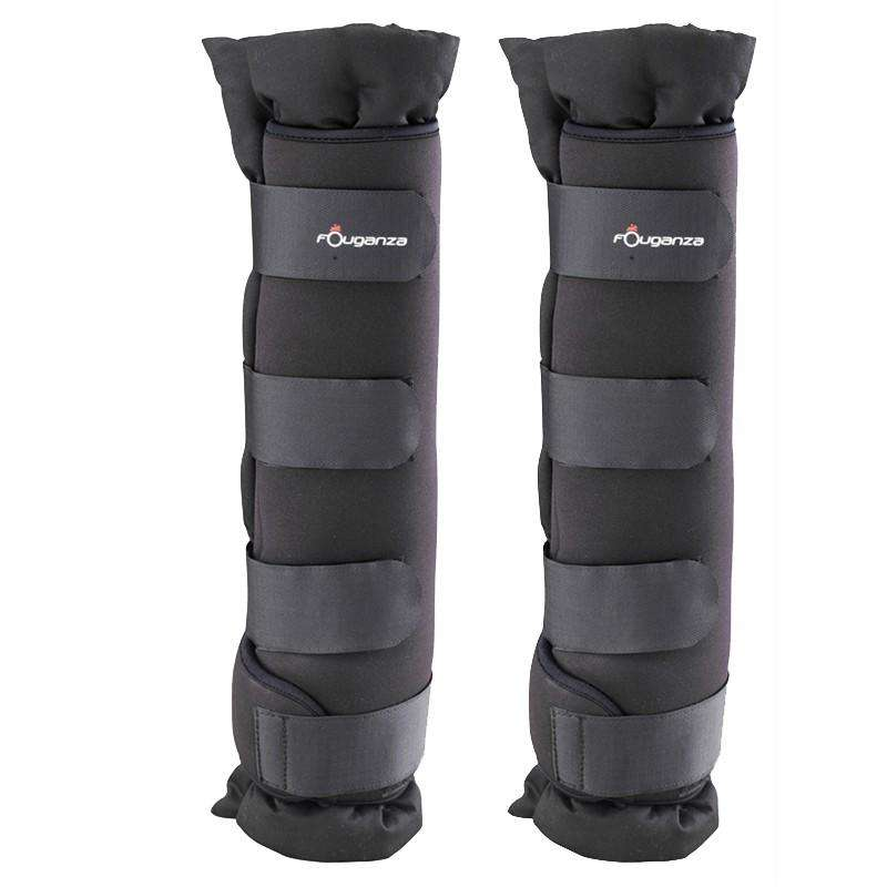 HORSE TRAVEL/STABLE PROTECTION - Stable Boots Twin-Pack - Black FOUGANZA