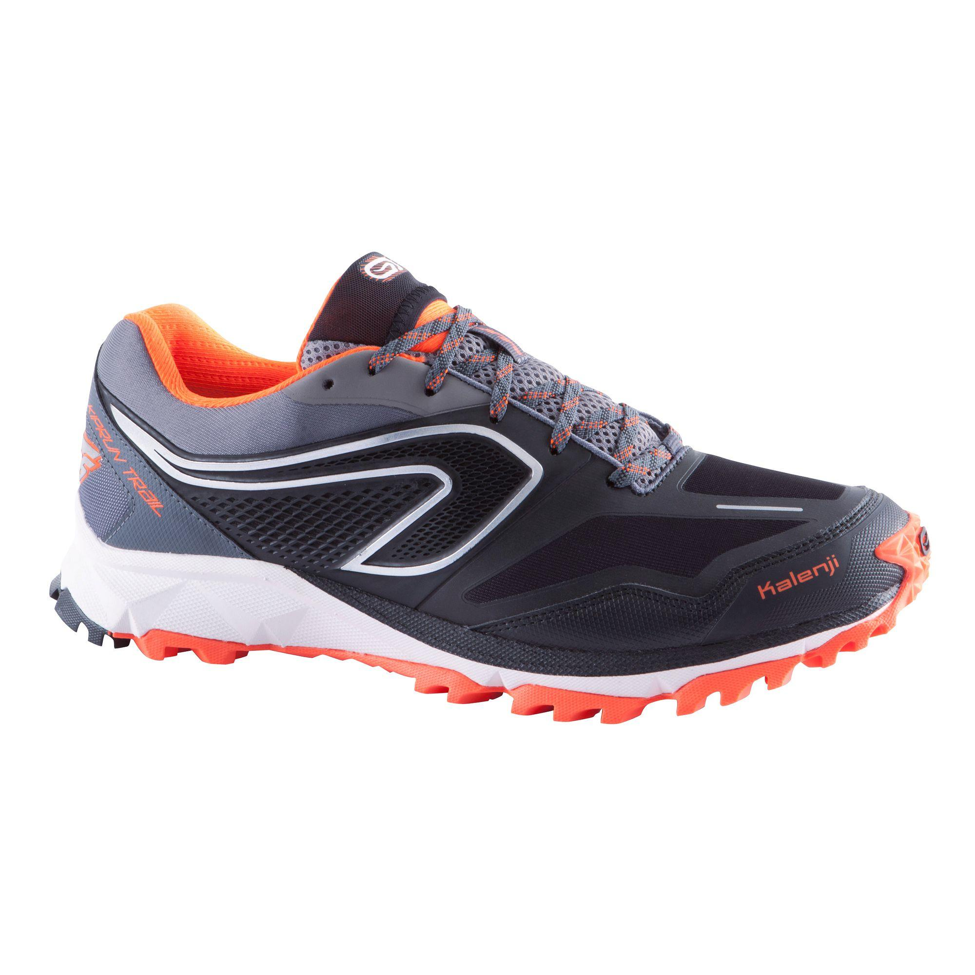 Kiprun XT6 Waterproof Men's Trail Running Shoes - Black Orange